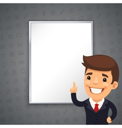 Gray Business Background with Boss vector image