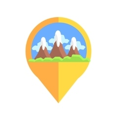 On-line map marker with mountains vector