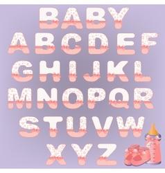 Cute baby alphabet vector image