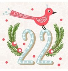 Cute colorful christmas advent calendar vector