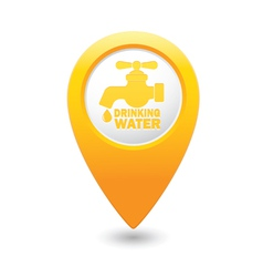 drinking water MAP pointer yellow vector image
