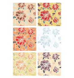 flowers patterns vector image