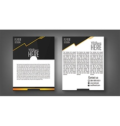 Flyer design layout template in A4 size with black vector image