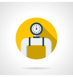 Pipe manometer round color flat icon vector image