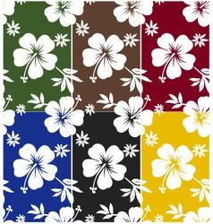 seamless flower summer vector image vector image