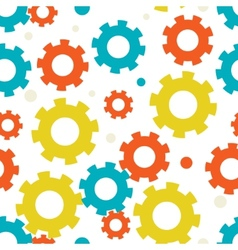seampless background with gears vector image