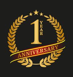golden anniversary logo celebration vector image