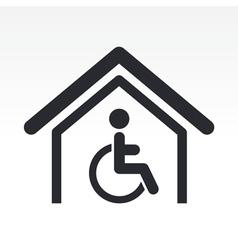 handicap icon vector image