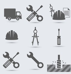repair build instrument hammer car screw vector image