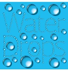 Water Drop Words vector image vector image