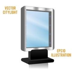 Blank billboard panel at night vector image