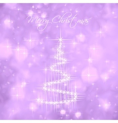 Christmas Tree Of Light And Snow Flakes vector image vector image