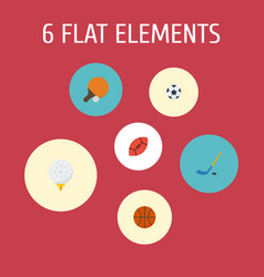 flat icons table tennis ball golf and other vector image vector image