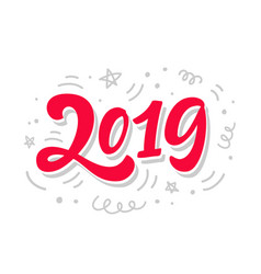 2019 year sign poster banner greeting card vector image