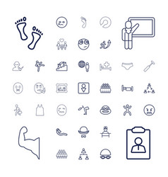 37 man icons vector