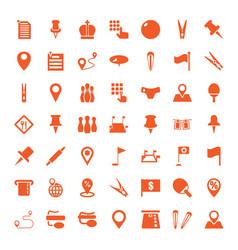 49 pin icons vector image