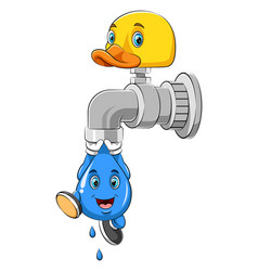 A drop water hanging from faucet vector