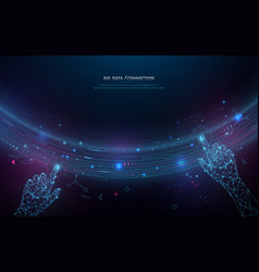abstract bigdata coding science background vector image