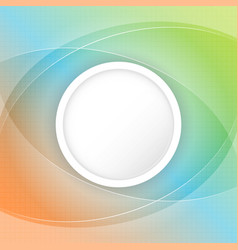 abstract colorful background with circular space vector image