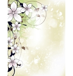 Abstract floral spring background with flowers and vector