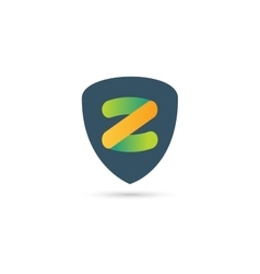 Abstract Z character logo icon template vector image