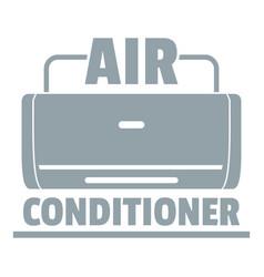 Air conditioner logo simple gray style vector