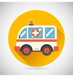 Ambulance Car Hastens Aid Rescue Icon Heal vector image