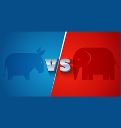 american political parties vector image