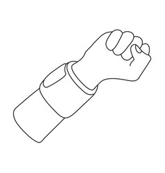 Arm with bandagebasketball single icon in outline vector