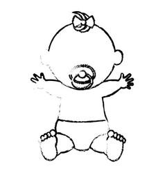 Baby clothes happy vector