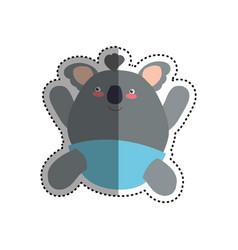 baby koala stuffed animal vector image vector image