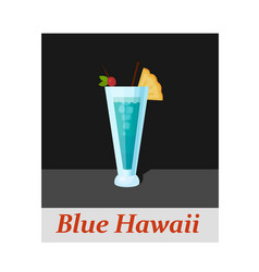 Blue hawaii cocktail menu item or any kind of vector