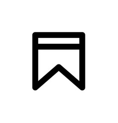 Bookmark flag line web or mobile interface vector