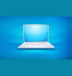 Cartoon laptop icon with empty vector
