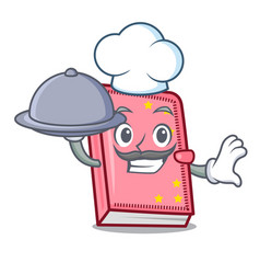 Chef with food diary mascot cartoon style vector