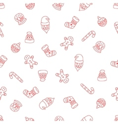 Christmas seamless background of Doodle vector