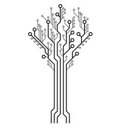 circuit board in shape tree vector image