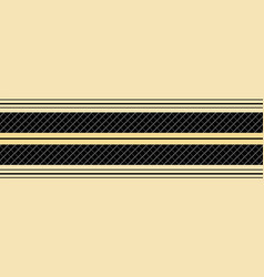classic gold black striped seamless border vector image