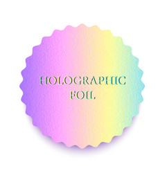 Colorful holographic foil vector