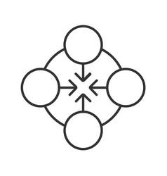 Concentration linear icon vector