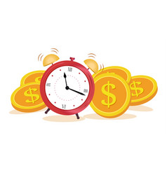 concept time is money make money income growth vector image