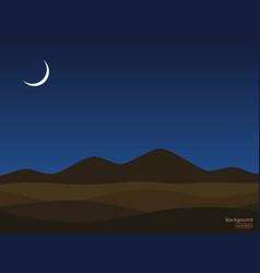 Desert night landscape background vector