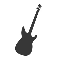 Electric guitar icon vector