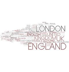 england word cloud concept vector image