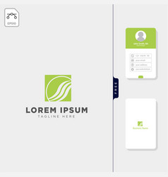 Fashion beauty logo template free business card vector