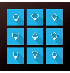 flat icon set - map pins vector image