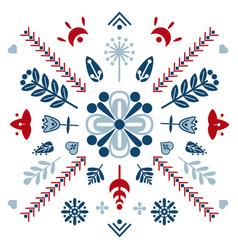folk art ornament vector image