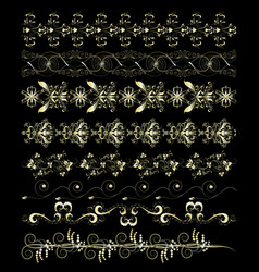 gold patterns and ornaments vector image