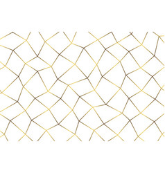 Golden geometric abstract pattern vector