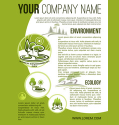 Green ecology environment company poster vector